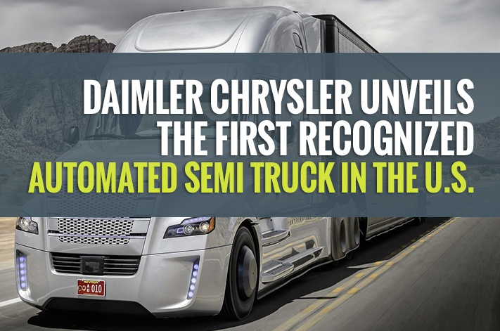 Daimler Chrysler Unveils the First Recognized Automated Semi Truck in the U.S.