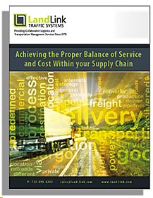 Achieving the Proper Balance of Service and Cost Within your Supply Chain